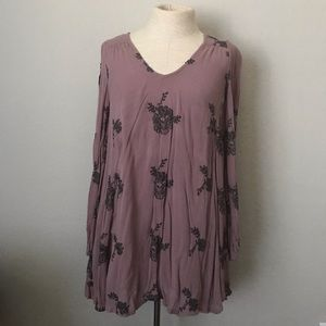 Purple embroidered dress